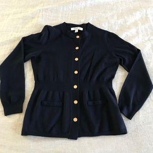 EUC- Brooks Brothers girls navy wool cardigan    L